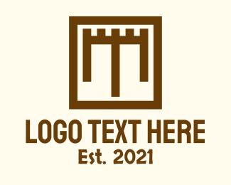 Fort - Square Shield Fort logo design