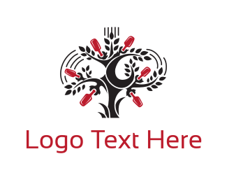 Pub - Bottle Tree logo design