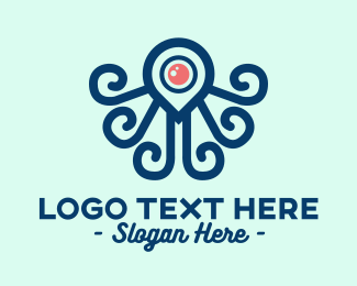 Squid - Octopus Locator logo design
