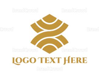 Dinnerware - Golden Curves logo design