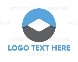 Blue And Gray - mobile logo design
