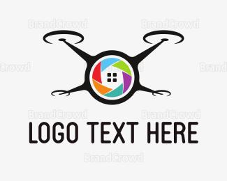 Photo - Drone Home Photo logo design