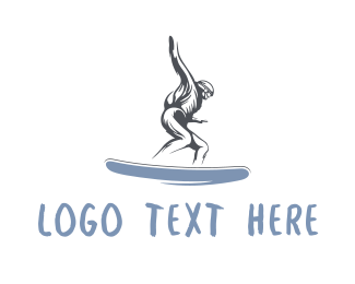 Ski - Skater Snowboard Man logo design