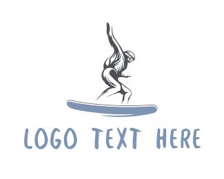Snowboard - Skater Man logo design