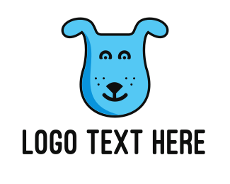 Pet Grooming - Blue Dog logo design