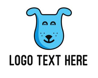 Puppy - Blue Dog logo design