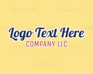 Text - Company Text logo design