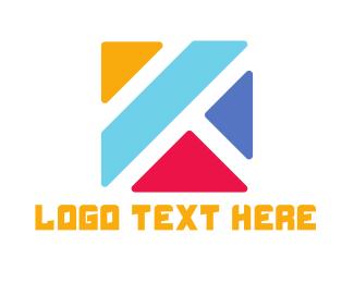 Letter K - Colorful K  logo design
