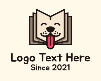 Storybook - Happy Puppy Storybook logo design