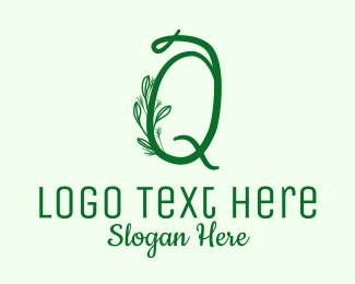 """Natural Elegant Letter Q "" by BrandCrowd"