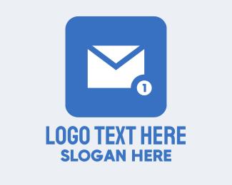 Social Media - Blue Social Media Messaging App logo design