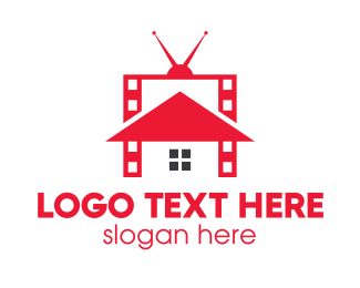 Tv Channel - Movie House logo design