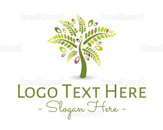 Botanical - Palm Tree logo design