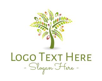 Colorful - Palm Tree logo design