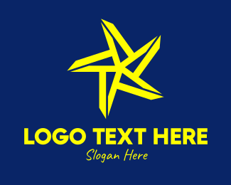 Cosmos - Bright Yellow Star logo design