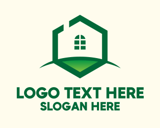 Grass - Hexagon House Grass logo design