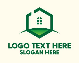 Grass - Hexagon House Grass logo design