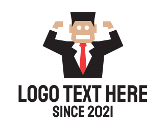 Boss - Angry Sales Person logo design