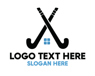 Puck - Hockey Stick Homes logo design