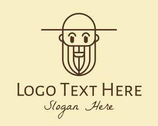 Man - Old Man Farmer logo design