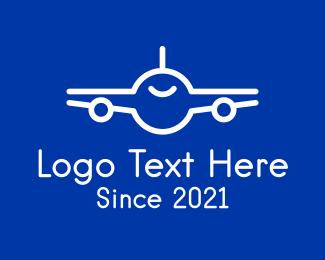 """Minimalist White Airplane"" by FishDesigns61025"