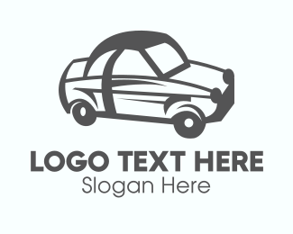 Auto Parts - Gray Car Vehicle logo design