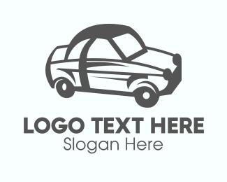 Sedan - Gray Car Vehicle logo design