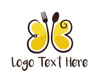 Cutlery Butterfly  Logo