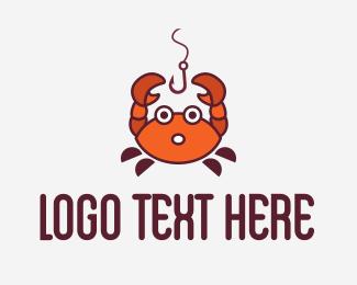 Crab - Crab Fishing Bait logo design