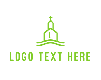 Catholicism - Line Church logo design