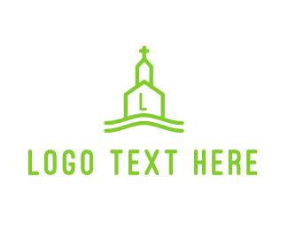 Church - Line Church logo design