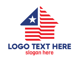 States - USA House Shape logo design