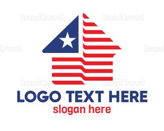 Shape - USA House Shape logo design