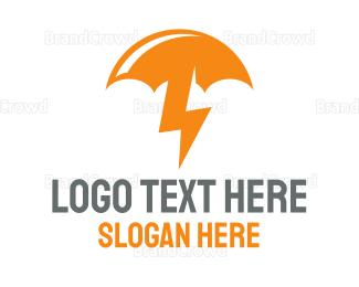 Umbrella - Bolt Umbrella logo design
