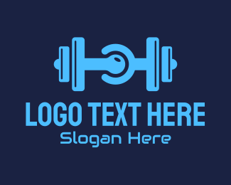 Powerlifting - Gym Dumbbell Tech Circuit logo design