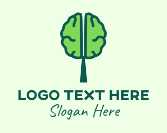 Mind - Green Mind Tree logo design