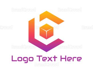 Bc - Cube C & B  logo design