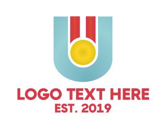 Achievement - U Medal logo design