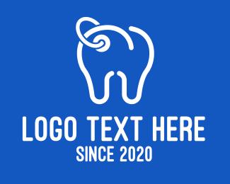 Oral Care - Dental Clinic Price Tag logo design