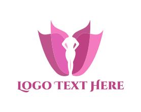 Chiropractic - Feminine Flower logo design