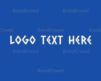 Mykonos - Traditional Greek Text logo design