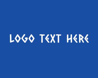 Greece - Traditional Greek Text logo design