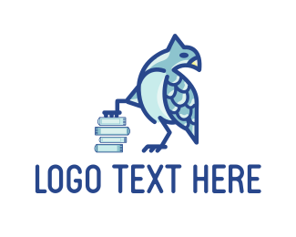 Bookstore - Blue Bird logo design