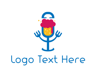Podcast - Beer & Microphone logo design