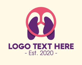 Autoparts - Respiratory Lung Steering Wheel logo design