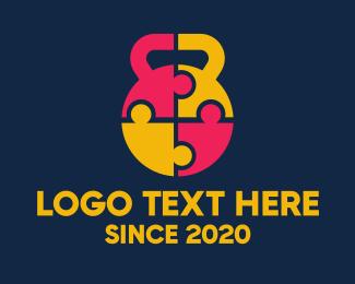 Trainer - Kettlebell Group Fitness Bootcamp logo design