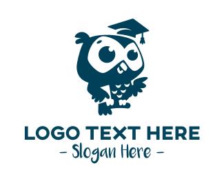 Wisdom - Cute Owl Graduation logo design