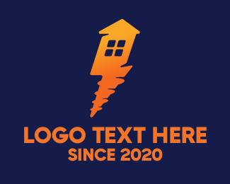 Carpentry - Flash House logo design
