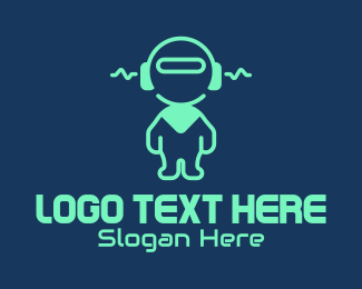Toy Robot - Tech Audio Robot  logo design