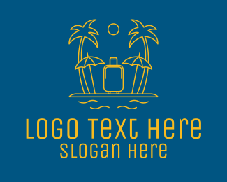 Relaxing - Golden Island Luggage  logo design